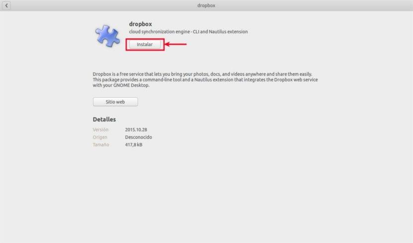 instalación software dropbox ubuntu