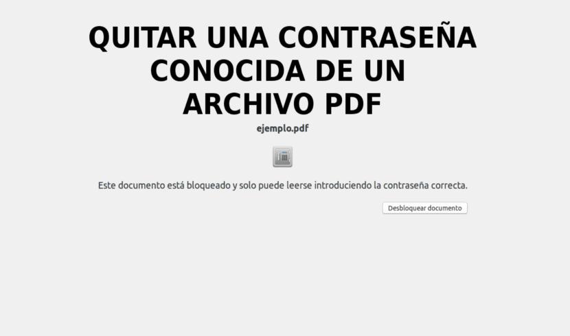 about quitar una contraseña conocida de un pdf