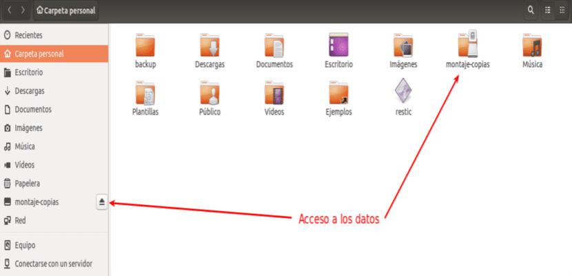 acceso a datos restic