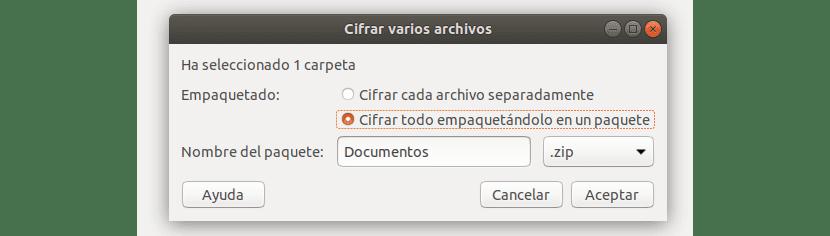 cifrar conjunto de archivos