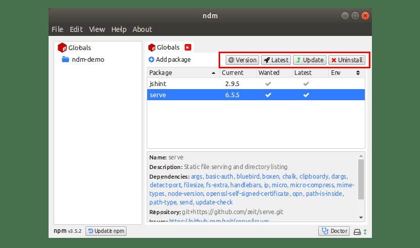 global ndm install