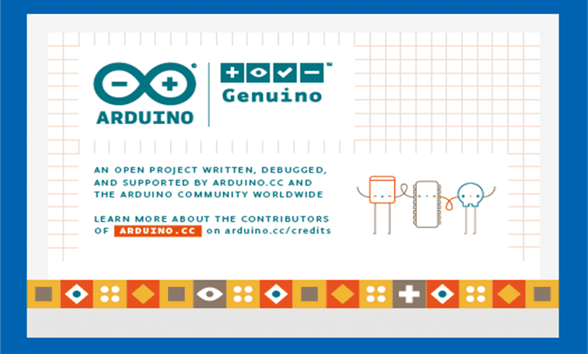 Pantalla de inicio de Arduino IDE