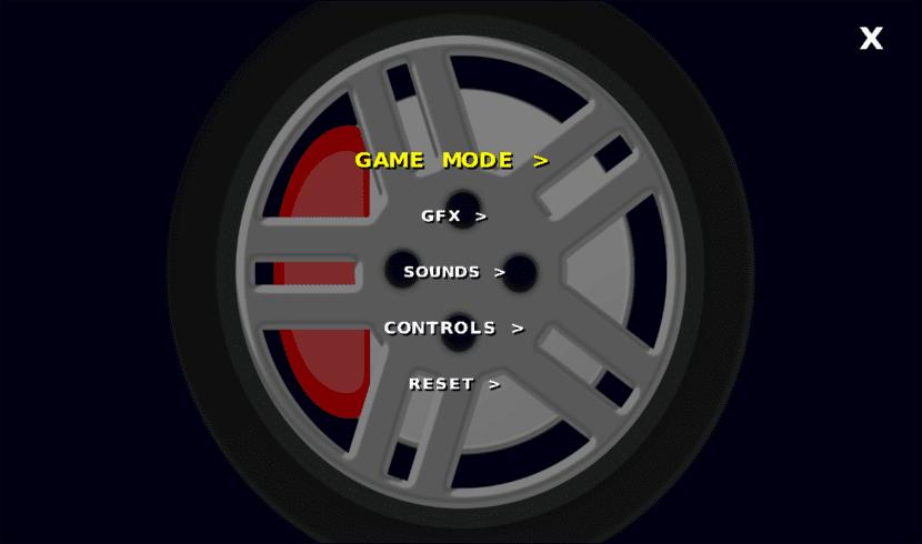 Dust Racing 2D opciones