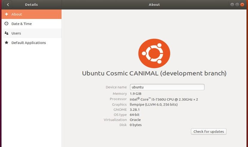 Ubuntu Cosmic Canimal