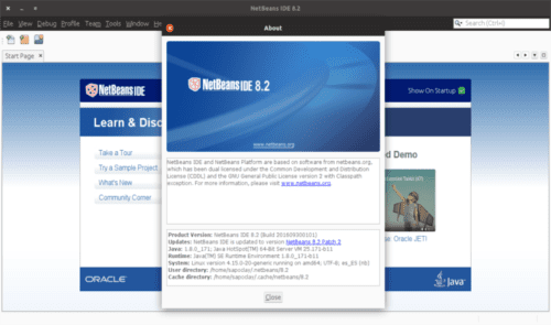 about Netbeans IDE 8.2