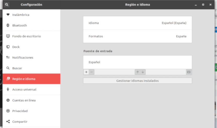 Region e idioma en Ubuntu