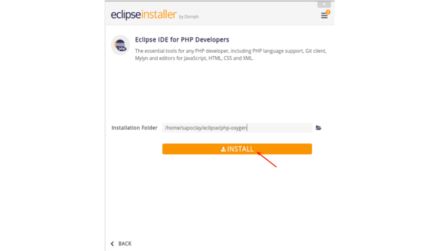 instalación eclipse IDE for PHP developers