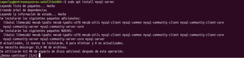 instalación mysql server