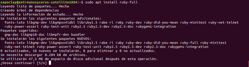 instalación ruby-full