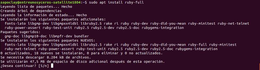 instalación ruby-full