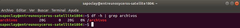 sistema de archivos montado