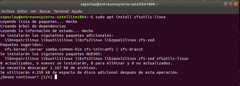zfsutils linux install