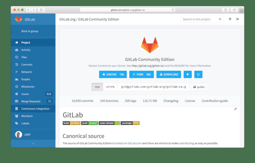 Repositorio externo de Gitlab CE