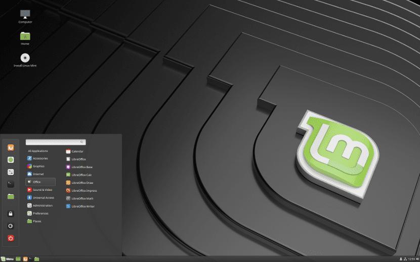 Captura de pantalla de Linux Mint 19 Cinnamon
