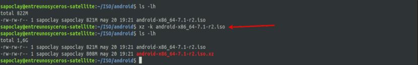 compresión xz -k para respetar el origen de datos