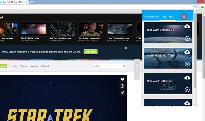 Descargar videos de Vimeo en Chrome