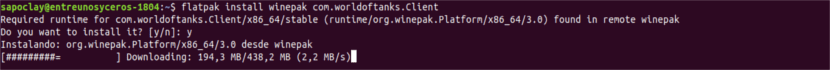 install winepak worldoftanks