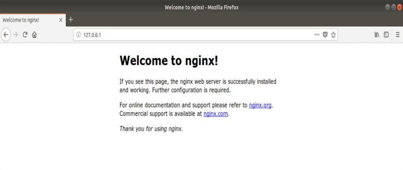 nginx página de inicio