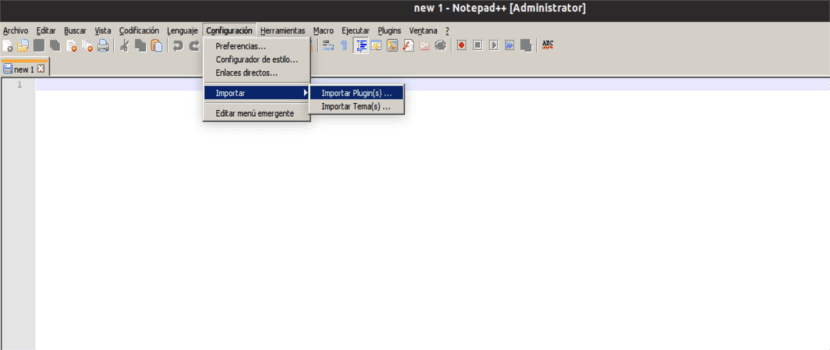 notepad importar plugins