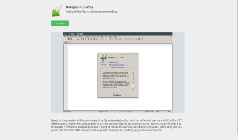 Notepad ++ software center
