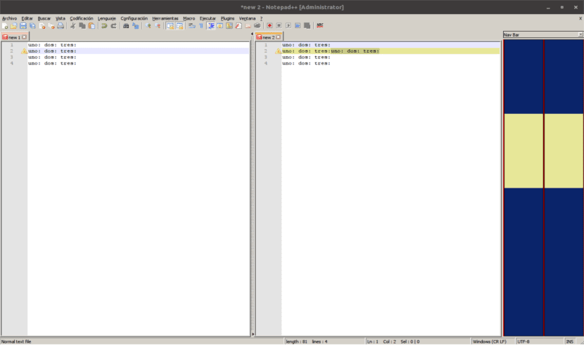 plugin compare notepad ++