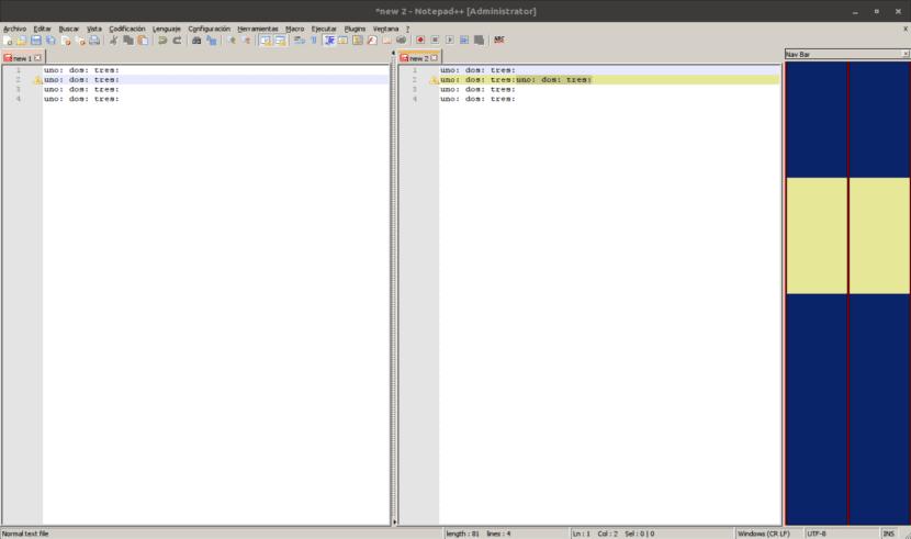 plugin compare notepad ++