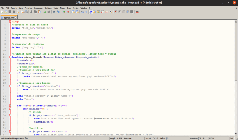 proyecto notepad ++