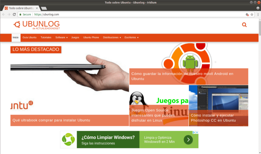 web vista Iridium