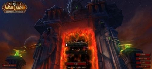 captura de pantalla de World of Warcraft