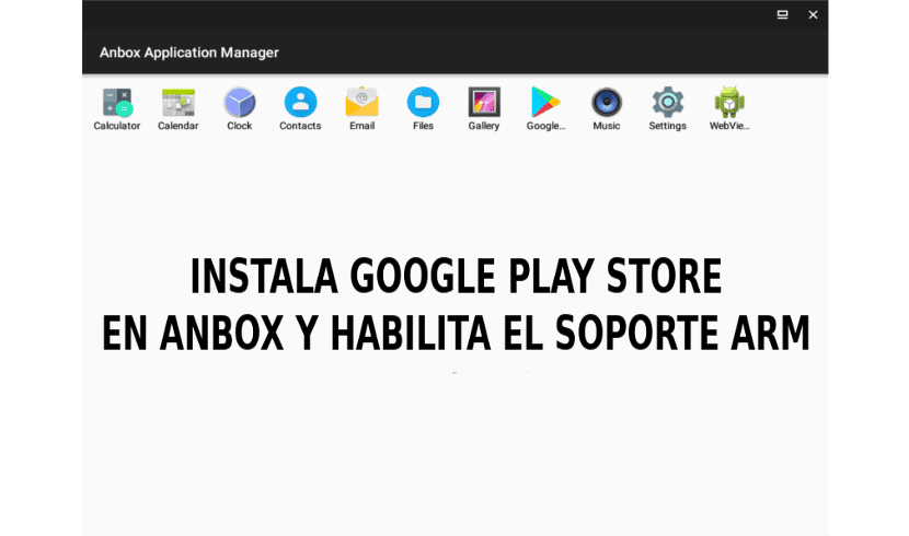 About anbox y google play