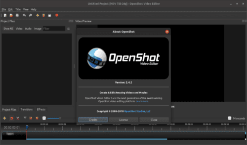 About openshot 2.4.2
