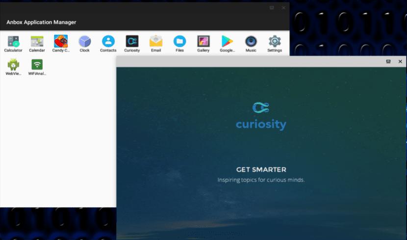app funcionando en Anbox