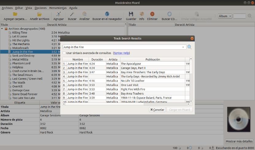 buscar pista similar con musicbrainz picard 2.0