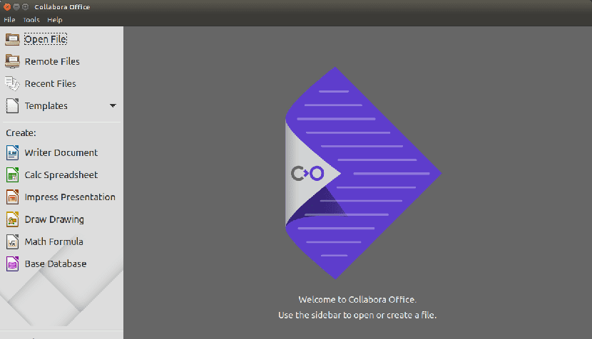 Captura de pantalla de Collabora Office