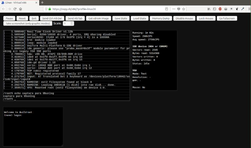 Copy.sh Terminales online