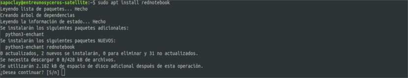 Instalación de RedNotebook