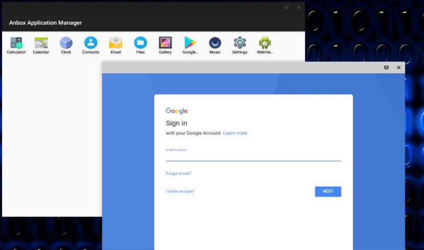 loguearse con tu cuenta de google en Anbox