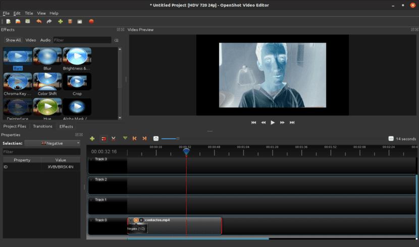 Editor de vídeo OpenShot, edición de un proyecto