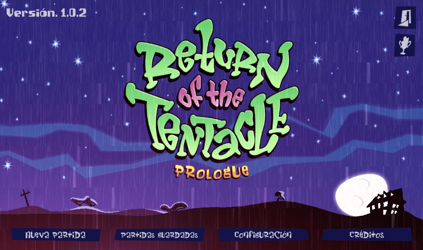 Pantalla de inicio de Return of the Tentacle