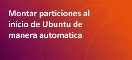 Montar particiones en ubuntu