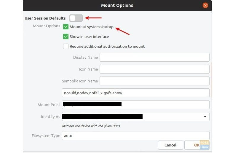 Partition-Mount-Options