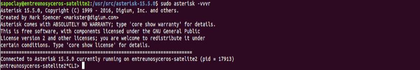 Acceder CLI de Asterisk