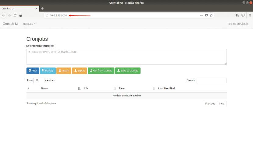 Crontab-UI IP local