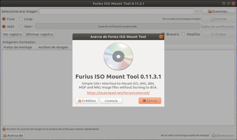 furius ISO Mount Tool en Ubuntu 18.04