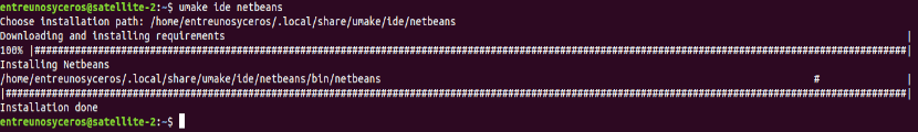 Instalación de Netbean con ubuntu make developer tools