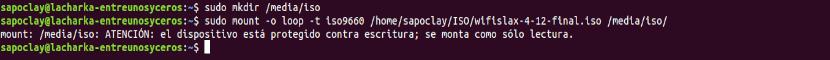Montar una imagen ISO desde la terminal de Ubuntu