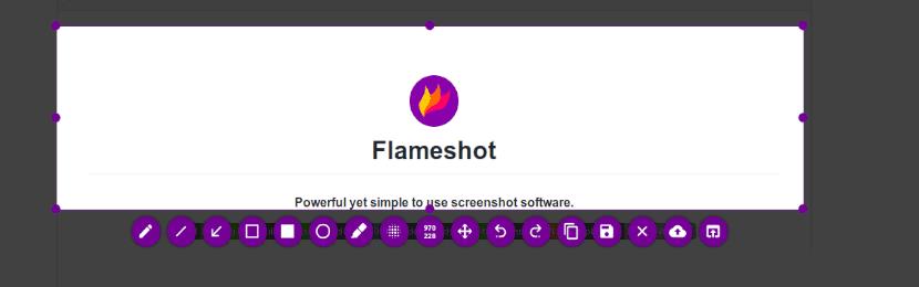 opciones de captura de flameshot 0.6