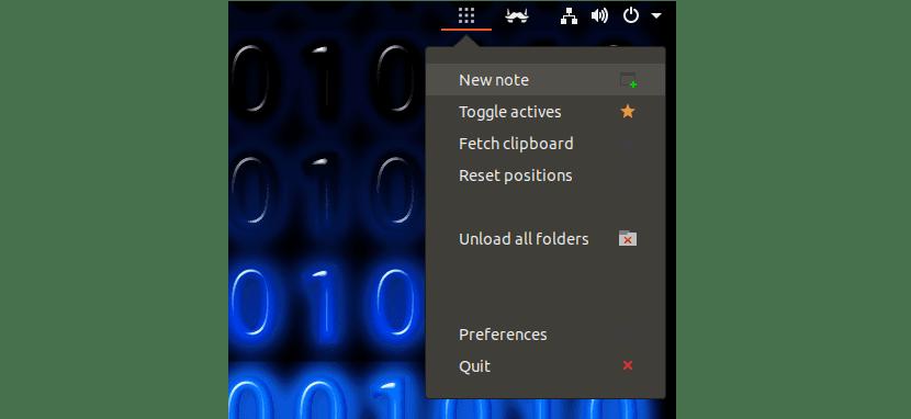 opciones menú qtpad