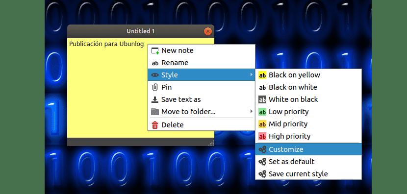 opciones nota qtpad