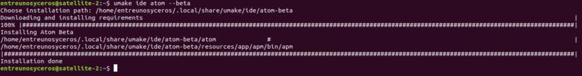 Ubuntu make umake ide atom beta
